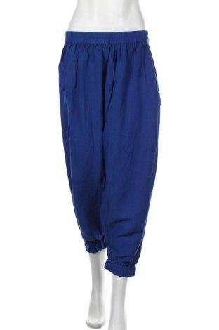 Дамски панталон Culture, Размер M, Цвят Син, 55% вискоза, 45% лен, Цена 66,75лв.