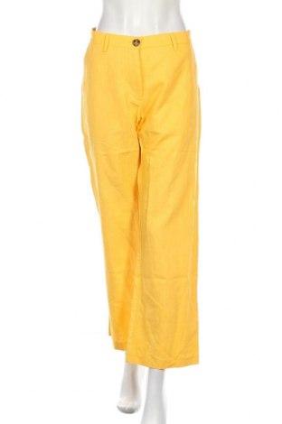 Дамски панталон Denim Hunter, Размер M, Цвят Жълт, Лен, Цена 48,95лв.