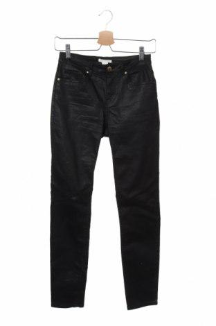 Pantaloni de femei H&M, Mărime XS, Culoare Negru, 60% bumbac, 38% poliester, 2% elastan, Preț 78,75 Lei