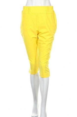Pantaloni de femei Kaffe, Mărime M, Culoare Galben, 68% poliester, 28% viscoză, 4% elastan, Preț 325,66 Lei