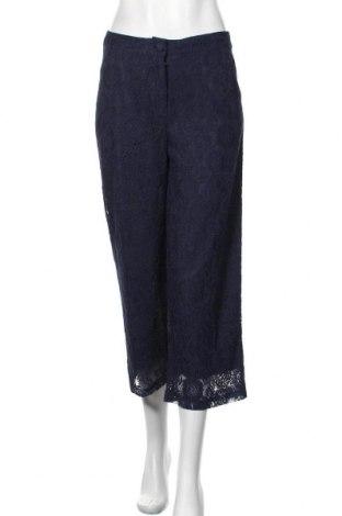 Pantaloni de femei Kaffe, Mărime S, Culoare Albastru, 55% poliamidă, 25% bumbac, 20% viscoză, Preț 358,55 Lei