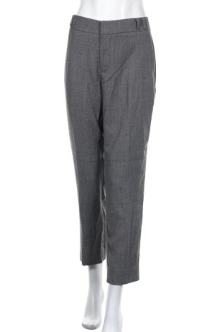 Pantaloni de femei Mango, Mărime L, Culoare Gri, 65% poliester, 35% viscoză, Preț 215,53 Lei