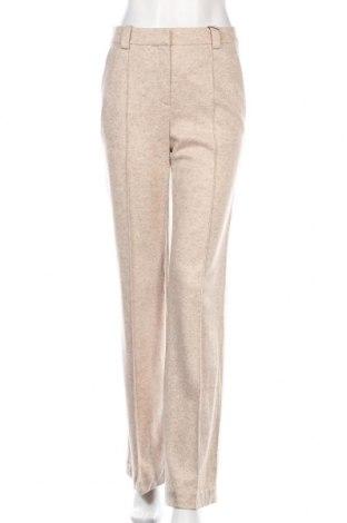 Pantaloni de femei Massimo Dutti, Mărime S, Culoare Bej, 69% lână, 27% poliamidă, 4% alte țesuturi, Preț 394,58 Lei