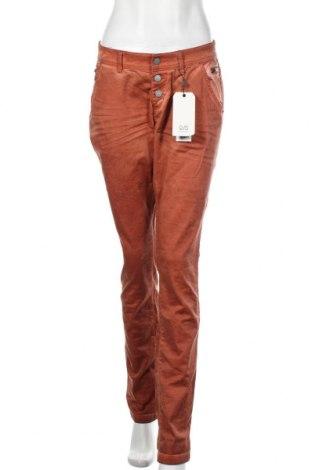 Γυναικείο παντελόνι Q/S by S.Oliver, Μέγεθος XL, Χρώμα Πορτοκαλί, 98% βαμβάκι, 2% ελαστάνη, Τιμή 21,94€