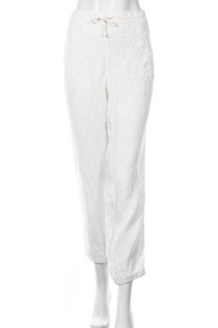 Дамски панталон S.Oliver, Размер XL, Цвят Бял, Лен, Цена 59,40лв.