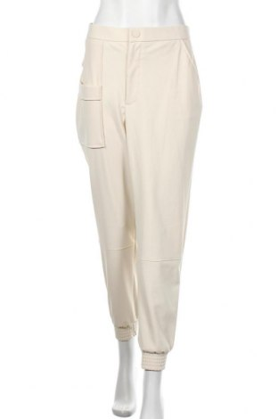 Γυναικείο παντελόνι Zara, Μέγεθος XL, Χρώμα Εκρού, 77% πολυαμίδη, 23% ελαστάνη, Τιμή 11,19€