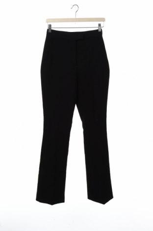 Дамски панталон Zara, Размер XS, Цвят Черен, 76% полиестер, 17% вискоза, 7% еластан, Цена 37,95лв.