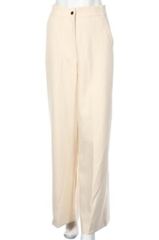 Дамски панталон Zara, Размер S, Цвят Бежов, 71% полиестер, 22% вискоза, 7% еластан, Цена 35,20лв.