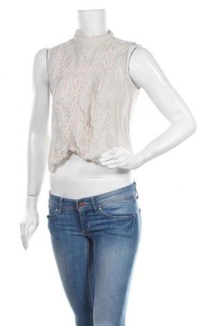 Дамски потник Zara, Размер M, Цвят Сив, 75% лен, 20% памук, 5% полиамид, Цена 28,50лв.