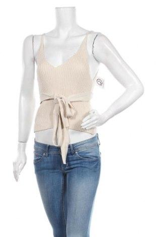 Дамски потник Zara, Размер M, Цвят Бежов, 50% памук, 47% акрил, 3% други тъкани, Цена 19,80лв.