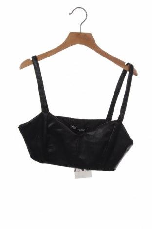 Дамски потник Zara, Размер XS, Цвят Черен, Еко кожа, Цена 18,00лв.