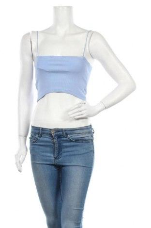 Дамски потник Zara, Размер M, Цвят Син, 93% памук, 7% еластан, Цена 9,10лв.