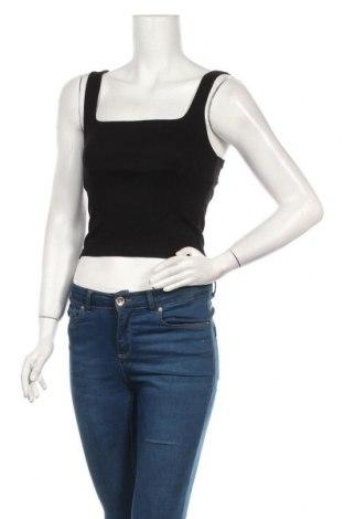 Tricou de damă Zara, Mărime S, Culoare Negru, 96% bumbac, 4% elastan, Preț 58,16 Lei