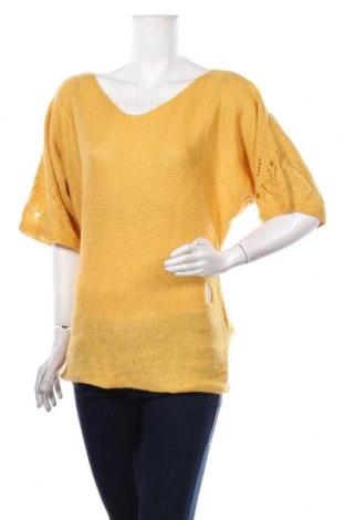 Дамски пуловер Adilisk, Размер S, Цвят Жълт, 40% акрил, 30% мохер, 30% полиамид, Цена 16,91лв.