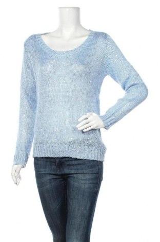 Дамски пуловер Buffalo, Размер S, Цвят Син, 65% полиестер, 20% акрил, 10% полиамид, 5% мохер, Цена 23,63лв.