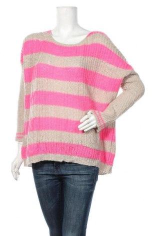 Дамски пуловер Kontatto, Размер M, Цвят Розов, 40% акрил, 30% мохер, 30% полиамид, Цена 27,30лв.