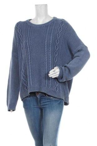 Дамски пуловер Monki, Размер S, Цвят Син, Памук, Цена 27,30лв.