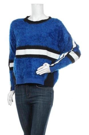 Дамски пуловер One More Story, Размер S, Цвят Син, 52% памук, 48% полиамид, Цена 9,71лв.