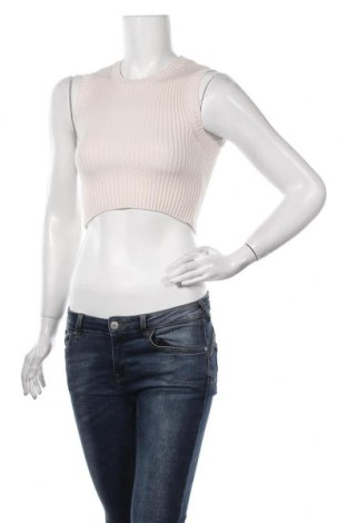 Pulover de femei Zara, Mărime S, Culoare Ecru, 47% viscoză, 27% poliamidă, 26% poliester, Preț 113,49 Lei
