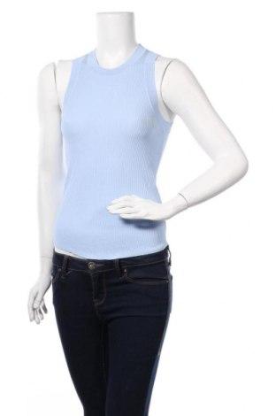 Дамски пуловер Zara, Размер M, Цвят Син, 80% вискоза, 20% полиамид, Цена 28,60лв.