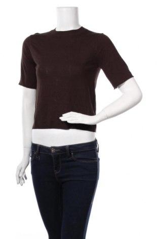 Дамски пуловер Zara, Размер S, Цвят Кафяв, 86% вискоза, 14% други тъкани, Цена 28,60лв.