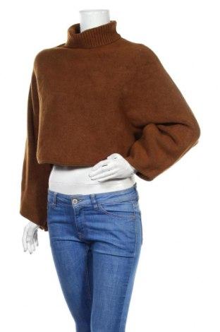 Дамски пуловер Zara, Размер M, Цвят Кафяв, 41% акрил, 35% полиамид, 10% вискоза, 6% полиестер, 5% вълна, 3% еластан, Цена 57,67лв.