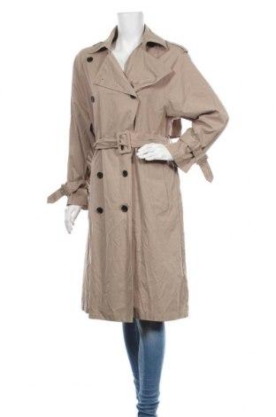 Дамски шлифер Zara, Размер M, Цвят Бежов, 55% полиестер, 33% памук, 12% полиамид, Цена 96,75лв.