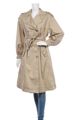 Дамски шлифер Zara, Размер S, Цвят Бежов, 62% памук, 38% еластан, Цена 74,25лв.