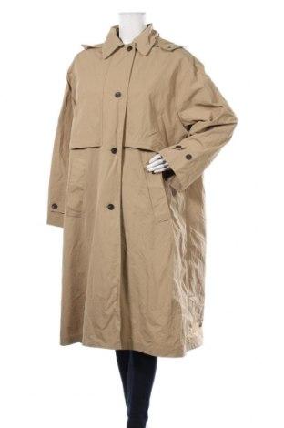 Дамски шлифер Zara, Размер L, Цвят Бежов, 95% полиестер, 5% памук, Цена 81,75лв.