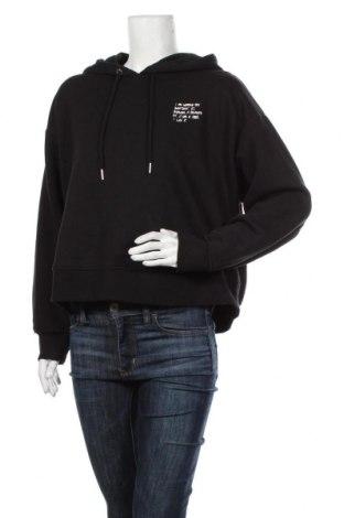 Дамски суичър Zara, Размер L, Цвят Черен, 98% памук, 2% еластан, Цена 44,25лв.