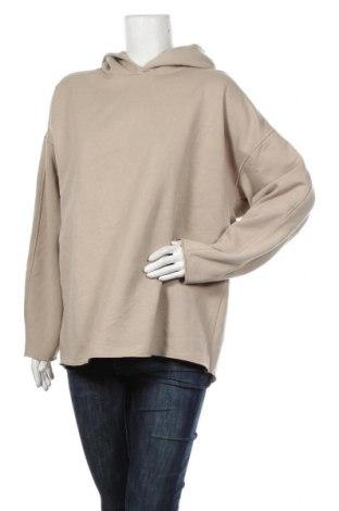 Дамски суичър Zara, Размер S, Цвят Бежов, 55% полиестер, 43% памук, 2% други тъкани, Цена 36,75лв.