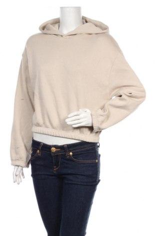 Дамски суичър Zara, Размер M, Цвят Бежов, 64% памук, 36% полиестер, Цена 36,75лв.