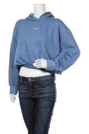 Дамски суичър Zara, Размер L, Цвят Син, 53% полиестер, 47% памук, Цена 36,75лв.