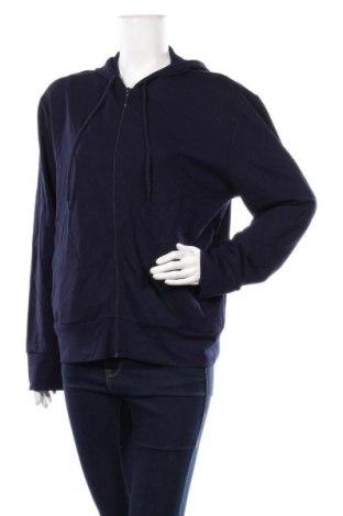 Дамски суичър Zara, Размер S, Цвят Син, 76% вискоза, 22% полиамид, 2% еластан, Цена 44,25лв.