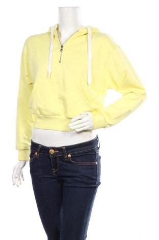 Дамски суичър Zara, Размер S, Цвят Жълт, 98% памук, 2% еластан, Цена 44,25лв.