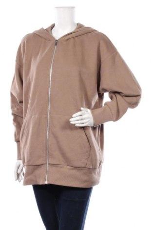 Дамски суичър Zara, Размер M, Цвят Кафяв, 95% памук, 5% еластан, Цена 42,00лв.