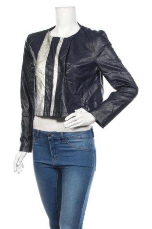 Dámské kožené sako  Blue Joint, Velikost M, Barva Modrá, Eko kůže, Cena  701,00Kč
