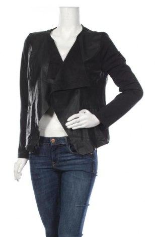 Дамско кожено сако Jennifer Taylor, Размер M, Цвят Черен, Еко кожа, Цена 22,52лв.