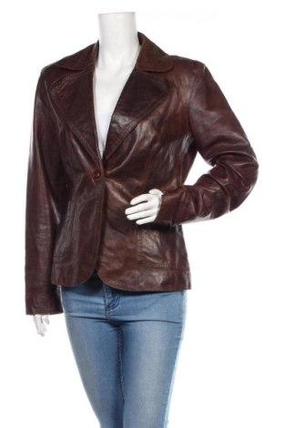 Дамско кожено сако Part Two, Размер L, Цвят Кафяв, Естествена кожа, Цена 112,46лв.