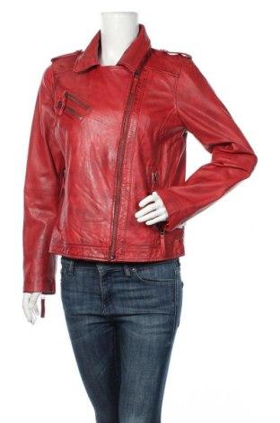 Дамско кожено яке 7 Eleven, Размер L, Цвят Червен, Естествена кожа, Цена 162,54лв.