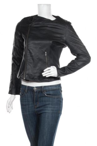 Дамско кожено яке Adidas Originals, Размер S, Цвят Черен, Еко кожа, Цена 141,75лв.