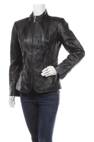 Дамско кожено яке Alfani, Размер M, Цвят Черен, Естествена кожа, Цена 135,45лв.
