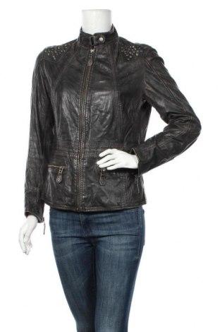 Дамско кожено яке Aniston, Размер S, Цвят Черен, Естествена кожа, Цена 57,33лв.