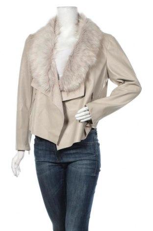 Дамско кожено яке Dorothy Perkins, Размер L, Цвят Бежов, Еко кожа, Цена 62,37лв.