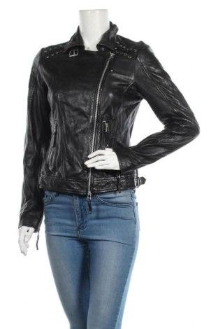Дамско кожено яке Freaky Nation, Размер S, Цвят Черен, Естествена кожа, Цена 252,85лв.
