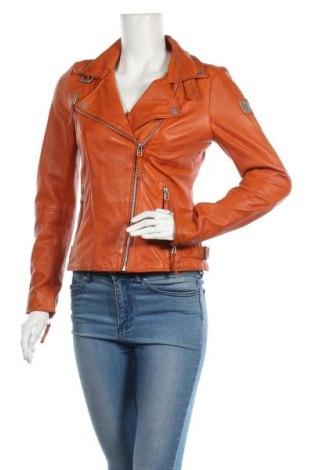 Дамско кожено яке Freaky Nation, Размер S, Цвят Оранжев, Естествена кожа, Цена 251,37лв.