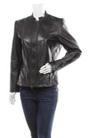 Γυναικείο δερμάτινο μπουφάν Gerry Weber, Μέγεθος XL, Χρώμα Μαύρο, Γνήσιο δέρμα, Τιμή 51,93€