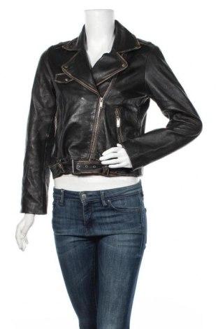 Дамско кожено яке Jake*s, Размер L, Цвят Черен, Естествена кожа, Цена 36,38лв.
