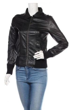 Дамско кожено яке Jennifer Taylor, Размер S, Цвят Черен, Еко кожа, Цена 16,17лв.