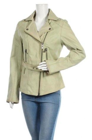 Дамско кожено яке Maze, Размер M, Цвят Зелен, Естествена кожа, Цена 270,27лв.